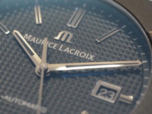 【モーリスラクロア】初めての高級時計にお薦め「アイコン オートマティック ブラック」-MAURICE LACROIX -P6060454-600x450
