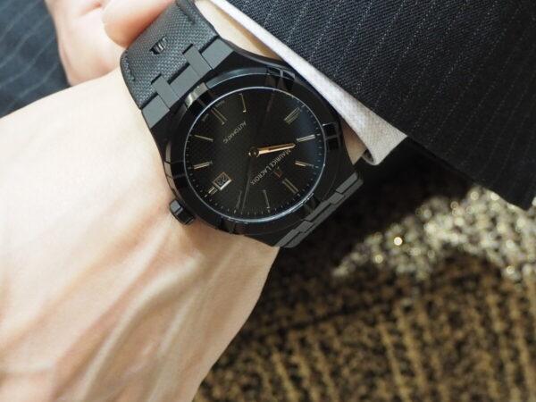 【モーリスラクロア】初めての高級時計にお薦め「アイコン オートマティック ブラック」-MAURICE LACROIX -P6060455-600x450