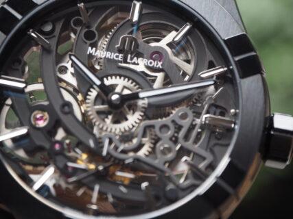 【モーリスラクロア】コレクションの中にスケルトンのお時計を「アイコン オートマティック スケルトン ブラック」