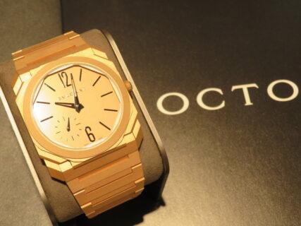 贅沢の極み…。ゴージャスな18Kゴールドモデル ブルガリ「オクト フィニッシモ」