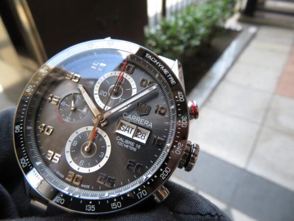 【タグ・ホイヤー】レーシング感を時計でも・・・「カレラ キャリバー16 クロノグラフ デイデイト」-TAG Heuer -IMG_0715-600x450