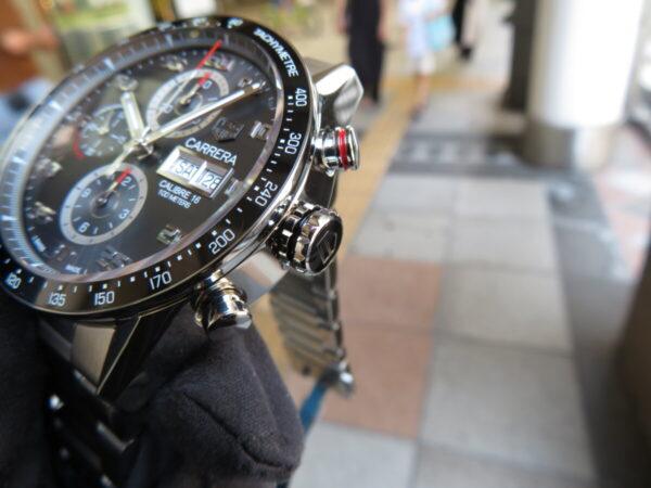 【タグ・ホイヤー】レーシング感を時計でも・・・「カレラ キャリバー16 クロノグラフ デイデイト」-TAG Heuer -IMG_0720-600x450