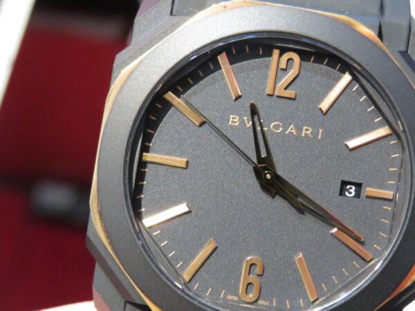 マッドブラックとゴールドが相性抜群…。ブルガリ「オクト オリジナーレ オートマティック」-BVLGARI -IMG_1276-600x450