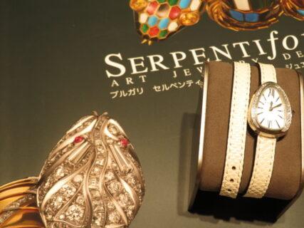 上品に仕上げた個性派時計…。ブルガリ「セルペンティ」