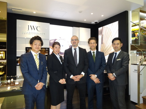 IWCからお客様が来られました。
