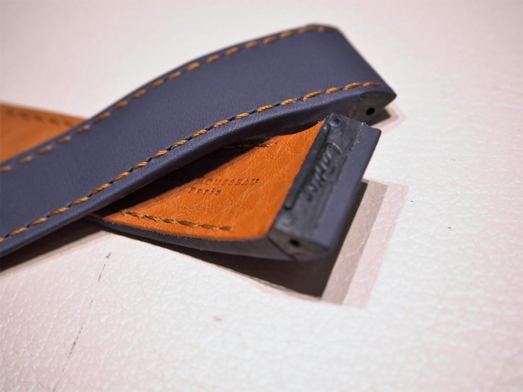 """Cartier用にオーダーいただいた""""Jean Rousseauのオリジナルストラップが出来上がりました!-カルティエ用 ジャン・ルソー オーダーストラップ oomiya京都店のお客様 -PC190528-1024x768"""