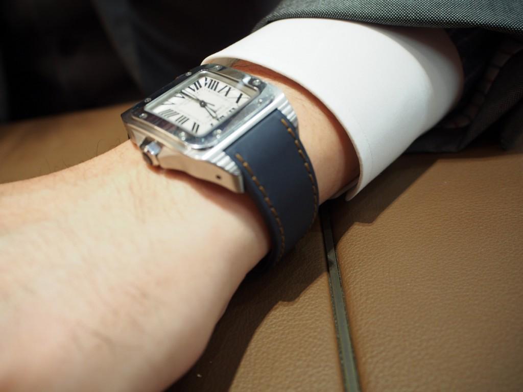 """Cartier用にオーダーいただいた""""Jean Rousseauのオリジナルストラップが出来上がりました!-カルティエ用 ジャン・ルソー オーダーストラップ oomiya京都店のお客様 -PC210543-1024x768"""