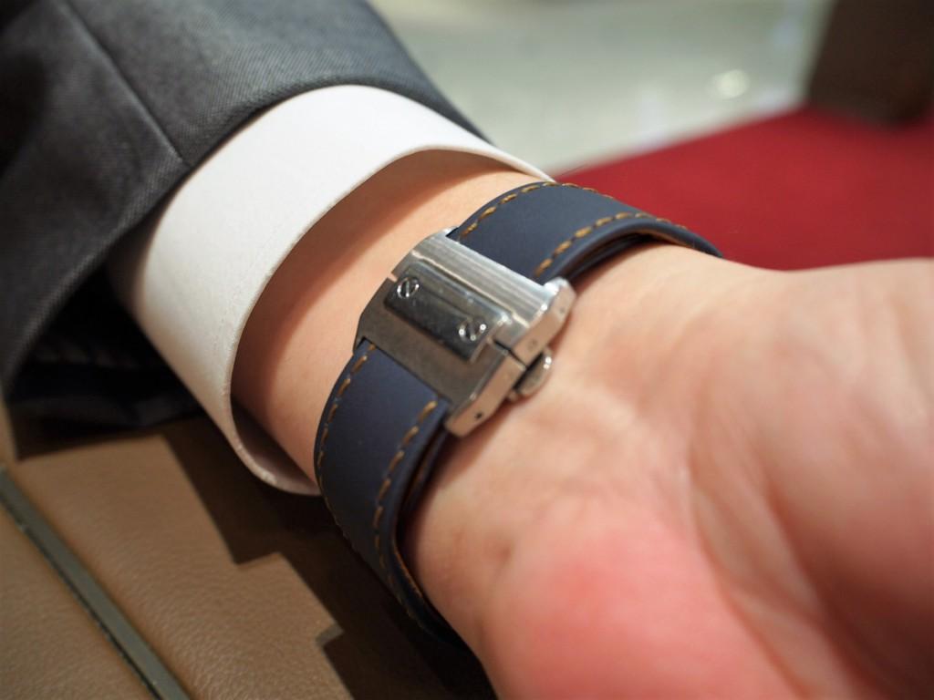 """Cartier用にオーダーいただいた""""Jean Rousseauのオリジナルストラップが出来上がりました!-カルティエ用 ジャン・ルソー オーダーストラップ oomiya京都店のお客様 -PC210544-1024x768"""