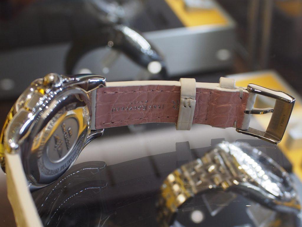 BREITLINGレディースモデルもオーダーストラップで華やかに...-ブライトリング用 ジャン・ルソー オーダーストラップ oomiya京都店のお客様 -P8140123-1024x768