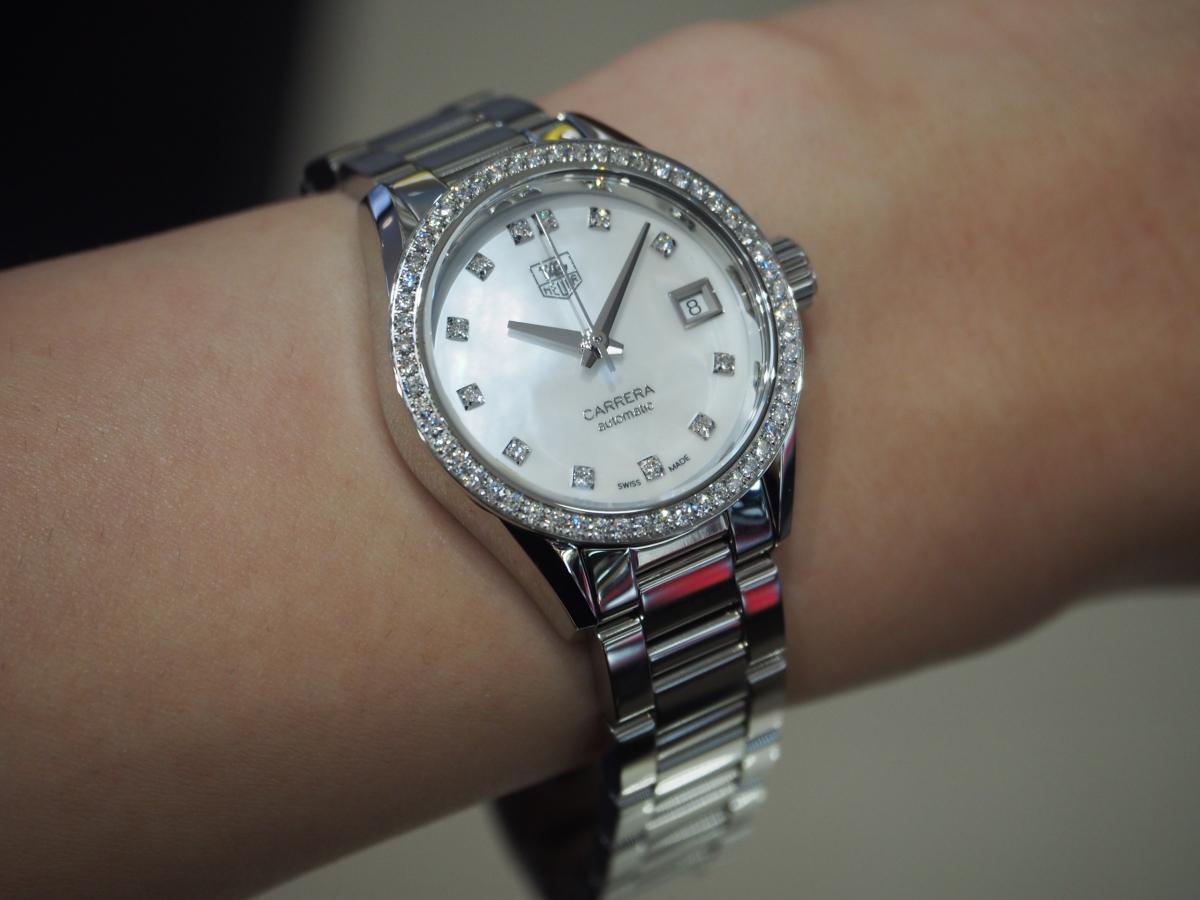 ホワイトデーのお返しにダイヤモンドが入った少し贅沢な時計/タグホイヤー・カレラ レディ ダイヤモンド