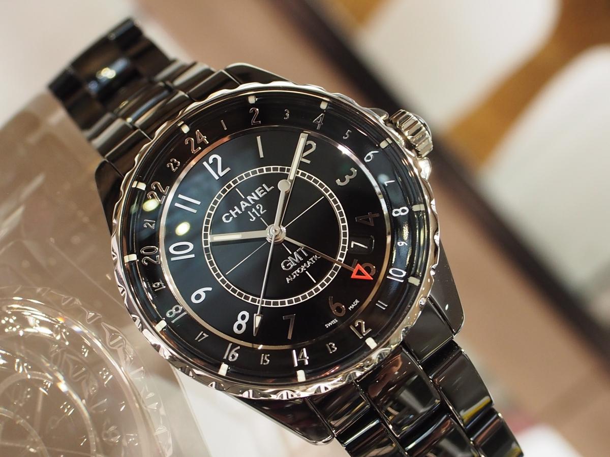 【CHANEL(シャネル)】スッキリシャープな印象!J12 ブラック GMT