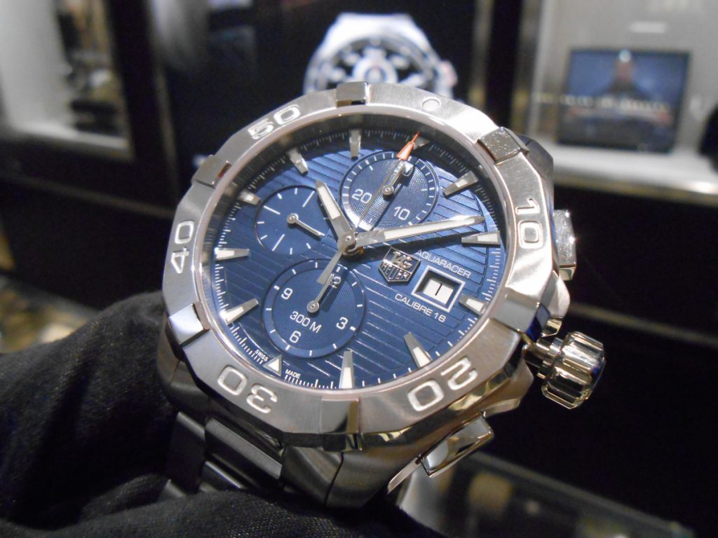 """【TAG Heuer NEW COLLECTION】300メートル防水を備える""""アクアレーサー クロノグラフ""""!-TAG Heuer -DSCN0241-1024x768"""