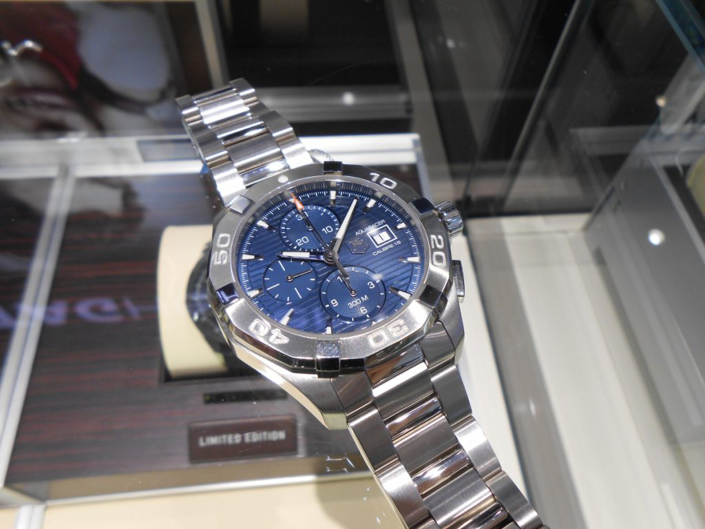 """【TAG Heuer NEW COLLECTION】300メートル防水を備える""""アクアレーサー クロノグラフ""""!-TAG Heuer -DSCN0248-1024x768"""