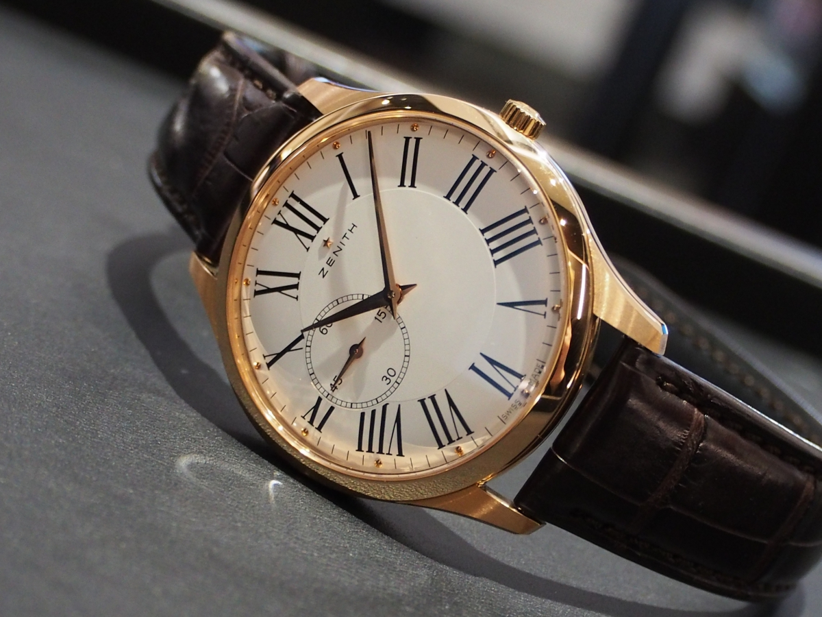 ビジネススーツを格上げするリッチな腕時計ゼニス/ウルトラシン