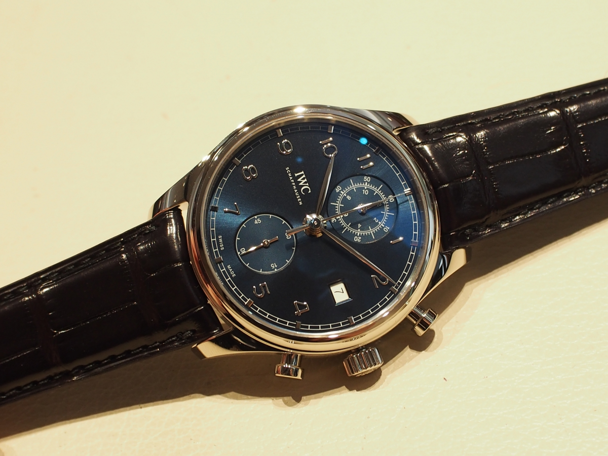 【IWC NEW COLLECTION FAIR】開催中!ポルトギーゼ・クロノグラフ・クラシック IW390303-〉SIHH IWC -P4281747