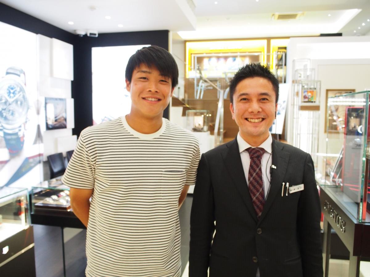 未来の日本サッカー界を背負うスーパースター、岩崎悠人選手がご来店☆