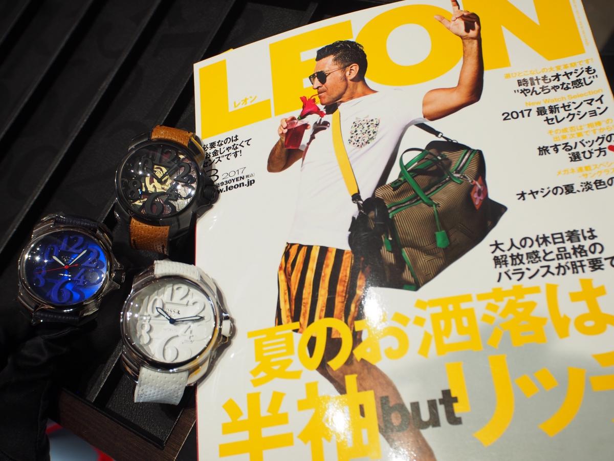 雑誌LEON8月号掲載【OSSO ITALY】3D顔で差をつける!!