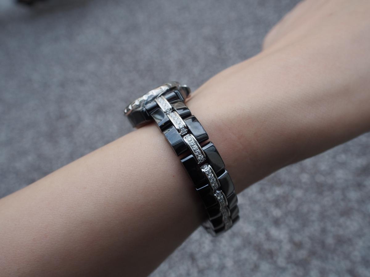 ブラックシャネルでカッコよく!シャネル/J12・XSブレスレットダイヤモンド-CHANEL -P7140175