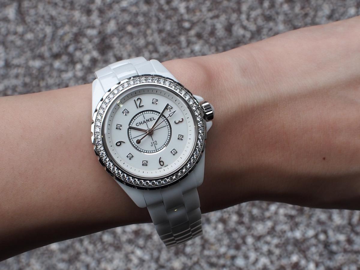 【CHANEL FAIR】終了間近!ホワイトのJ12ダイヤモンドモデル-CHANEL -P7140185