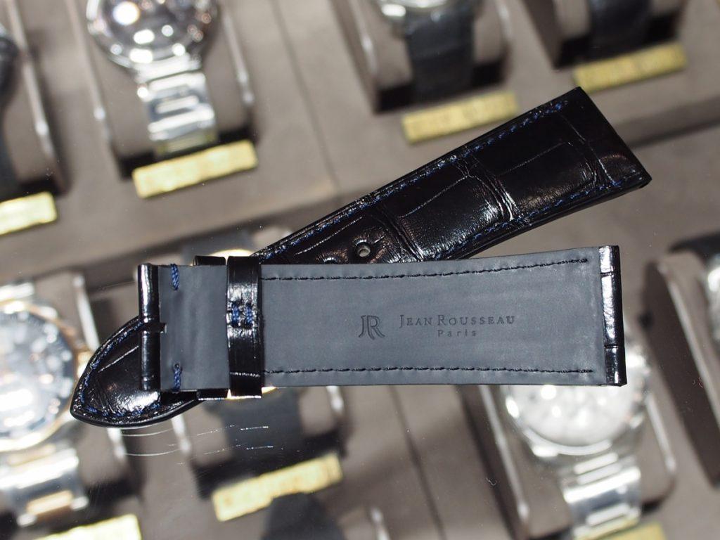 【Jean Rousseau(ジャン・ルソー)】華のあるカリブルダイバーにはパリッとシックなアリゲーターストラップを!-カルティエ用 Cartier(取扱い終了) ジャン・ルソー オーダーストラップ oomiya京都店のお客様 -P7210289-1024x768