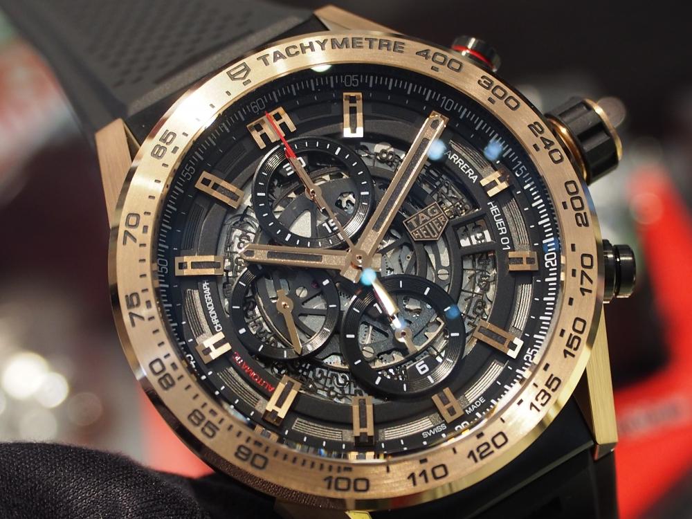【生産終了モデル】タグ・ホイヤーの贅沢でラグジュアリーなゴールドモデル~カレラ キャリバー ホイヤー01 クロノグラフ 43mm~-TAG Heuer -P1301110