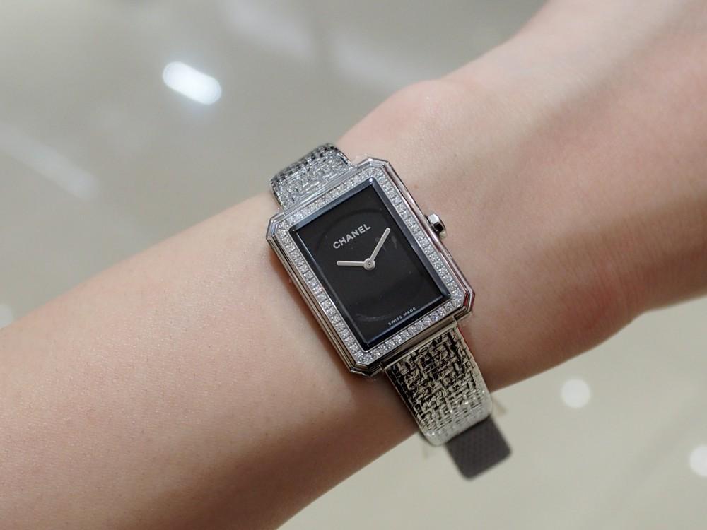 【CHANEL FAIR】大人時計でコーディネートを格上げ!シャネル ボーイフレンドツイード/H4877-CHANEL -P5072788