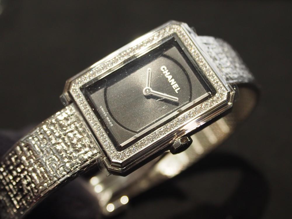 【CHANEL FAIR】大人時計でコーディネートを格上げ!シャネル ボーイフレンドツイード/H4877-CHANEL -P5072791