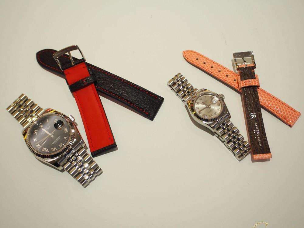 ご愛用の時計もオオミヤ京都店で大変身!オーダーメイドの革ベルト~ジャン・ルソー~