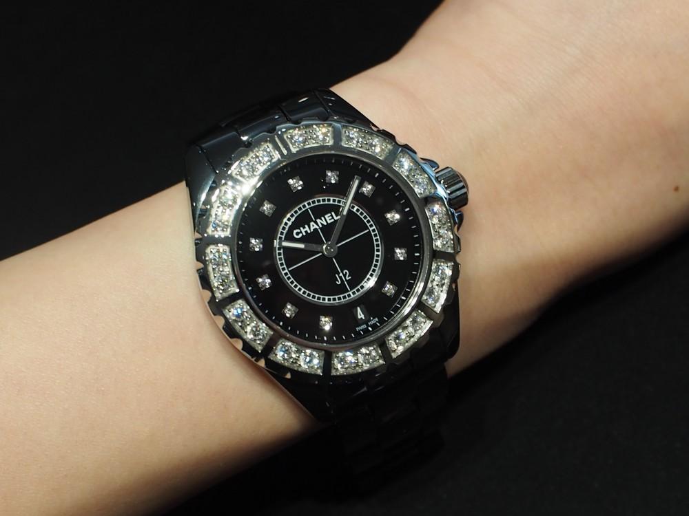 【CHANEL FAIR】オオミヤ京都店だから買える!豪華ダイヤモンドのJ12ブラック/H2428