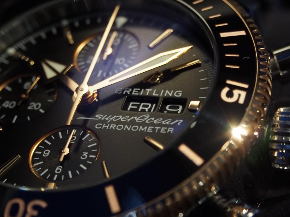 【ブライトリング】ゴールドでパッと華やか!~スーパーオーシャン ヘリテージ II クロノグラフ 44~