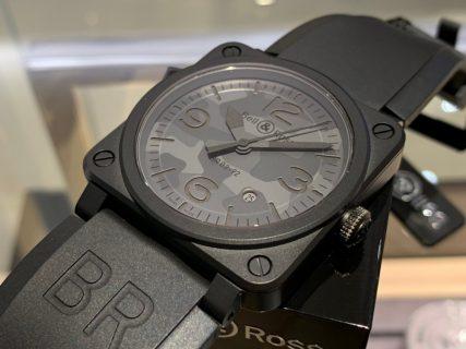 【ベル&ロス】ブラック×グレーのカモフラージュ柄 BR03 が入荷!