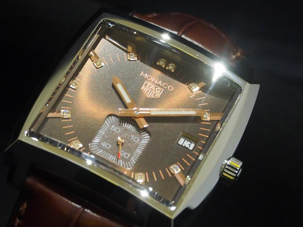 スティーブ・マックイーンも愛したモナコ、37mmケースのブラウン文字盤のモナコが初入荷!-TAG Heuer -PB130536