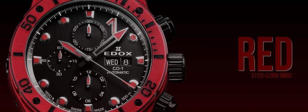 エドックスフェア開催中!新作クロノオフショア1 カーボンクロノグラフを改めてご紹介!-EDOX -img-red