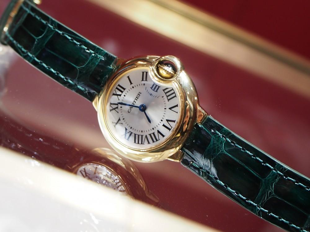 スタッフ愛用カルティエバロンブルーの衣替え♪-Cartier(取扱い終了) ヒルシュ オーダーストラップ -P1111209