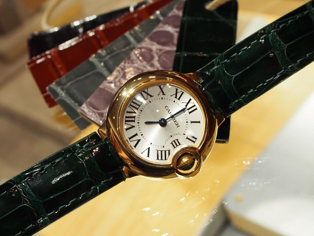 スタッフ愛用カルティエバロンブルーの衣替え♪-Cartier(取扱い終了) ヒルシュ オーダーストラップ -P1111211