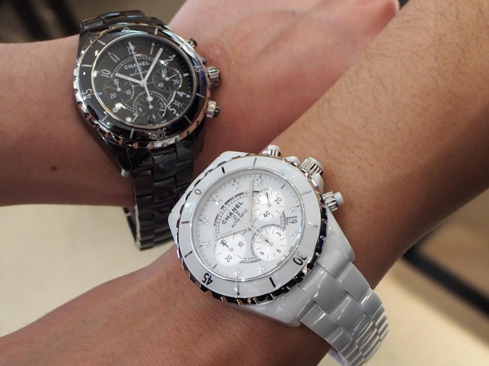 シャネル/男性に人気の「J12 クロノグラフ」華やかに腕元を飾れる時計-CHANEL -P3242307