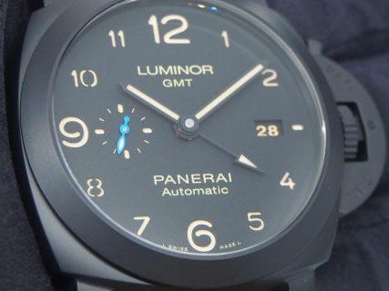 ミリタリー感がカッコイイ【ルミノール 1950 3デイズ GMT オートマティック チェラミカ】PAM01441入荷しました☆