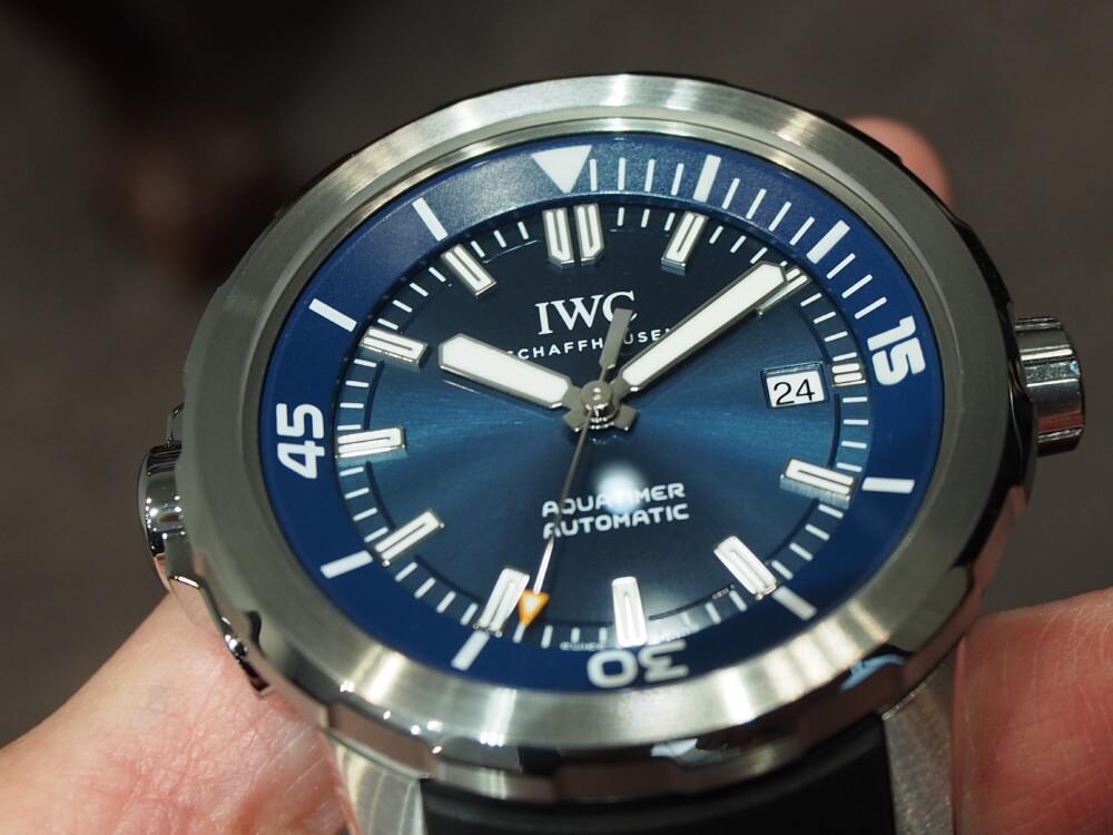 IWC/爽やかなブルー文字盤のシンプルなダイバーズウォッチ「アクアタイマー・オートマティック」-IWC -P5250143