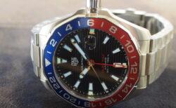 【タグ・ホイヤー】GMT機能付きのダイバーズウォッチ、カラフルなアクアレーサー。