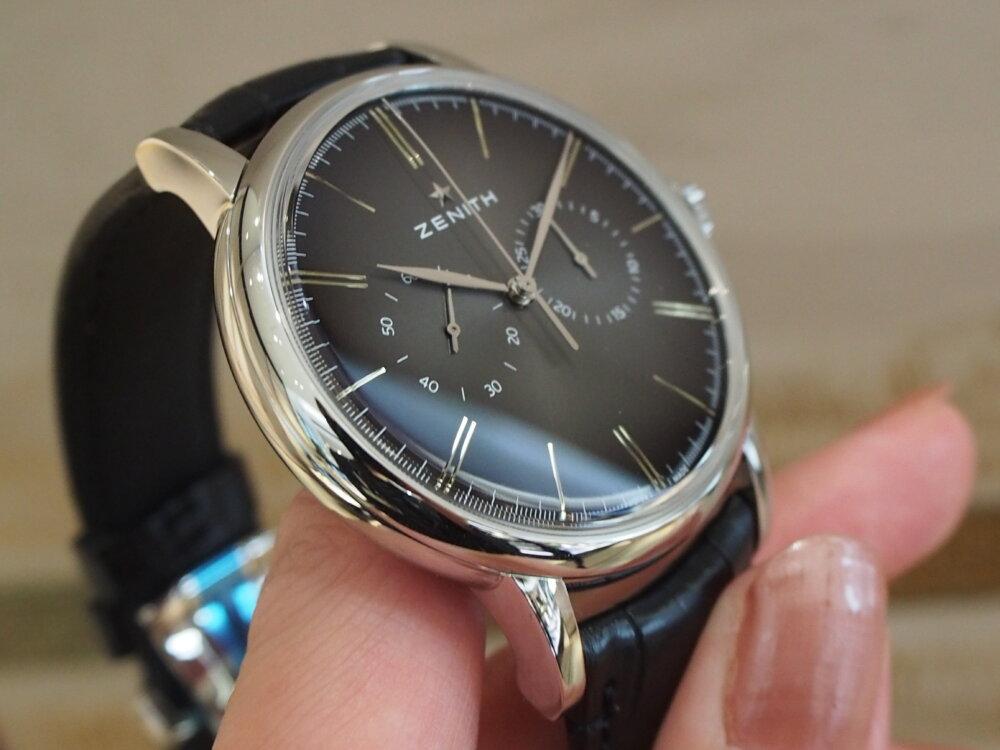 【ゼニス】伝説のクラッシック時計!!シンプルでかぶらないお時計でお探しならエリート-ZENITH -P6211712