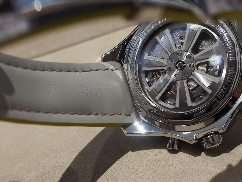 ブライトリングカラーをジャン・ルソーで再現☆正直かっこいいです!-ブライトリング用 ジャン・ルソー オーダーストラップ -P6241871