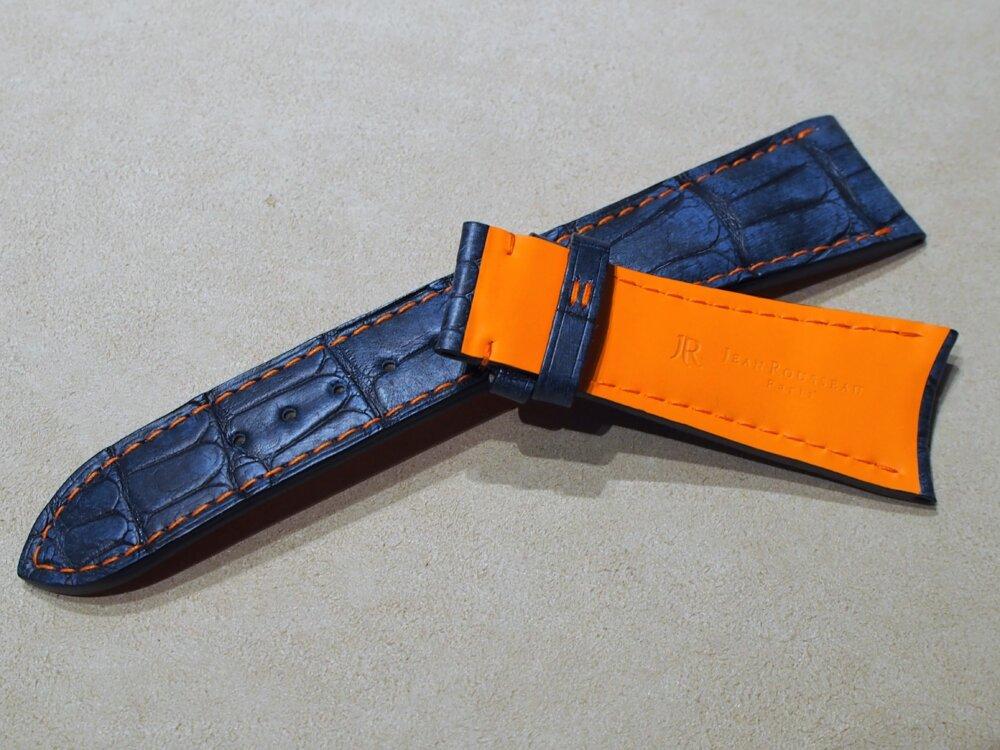 ジャンルソー オーダーストラップ完成!新たに追加された「ヴィンテージアリゲーター」-その他ブランド用 ジャン・ルソー オーダーストラップ oomiya京都店のお客様 -P7082211