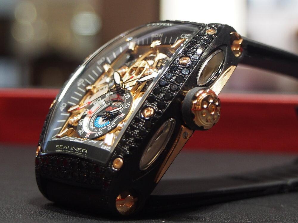 ooomiyaスペシャルモデル 「チャレンジ シーライナー GMT ブラックダイヤモンド」-CVSTOS -P7262750