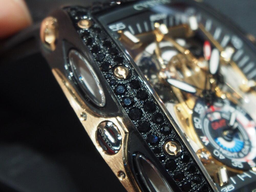 【クストス】ブラックダイヤをセッティングした「チャレンジ シーライナー GMT」特別モデル!-CVSTOS -P7262755