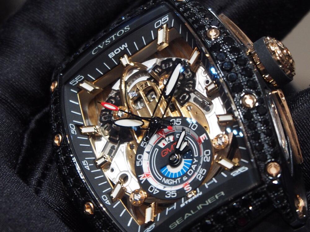 【クストス】ブラックダイヤをセッティングした「チャレンジ シーライナー GMT」特別モデル!-CVSTOS -P7262756