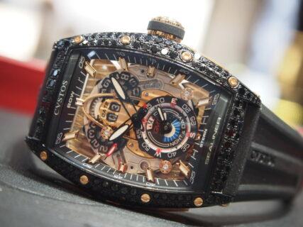 【クストス】ブラックダイヤをセッティングした「チャレンジ シーライナー GMT」特別モデル!