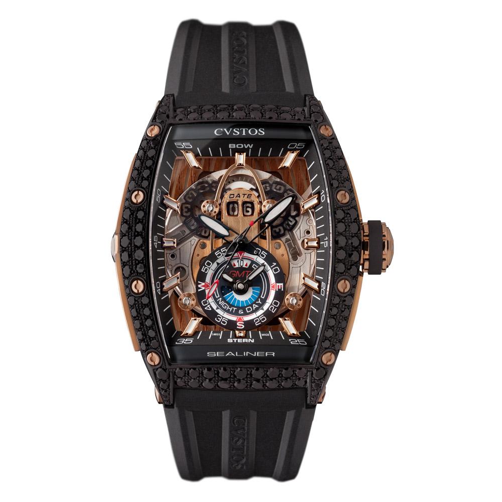 ooomiyaスペシャルモデル 「チャレンジ シーライナー GMT ブラックダイヤモンド」-CVSTOS -ow7656
