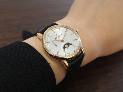 【ゼニス】華奢に可愛く本格機械式時計を着けるなら!~エリート レディ ムーンフェイズ~