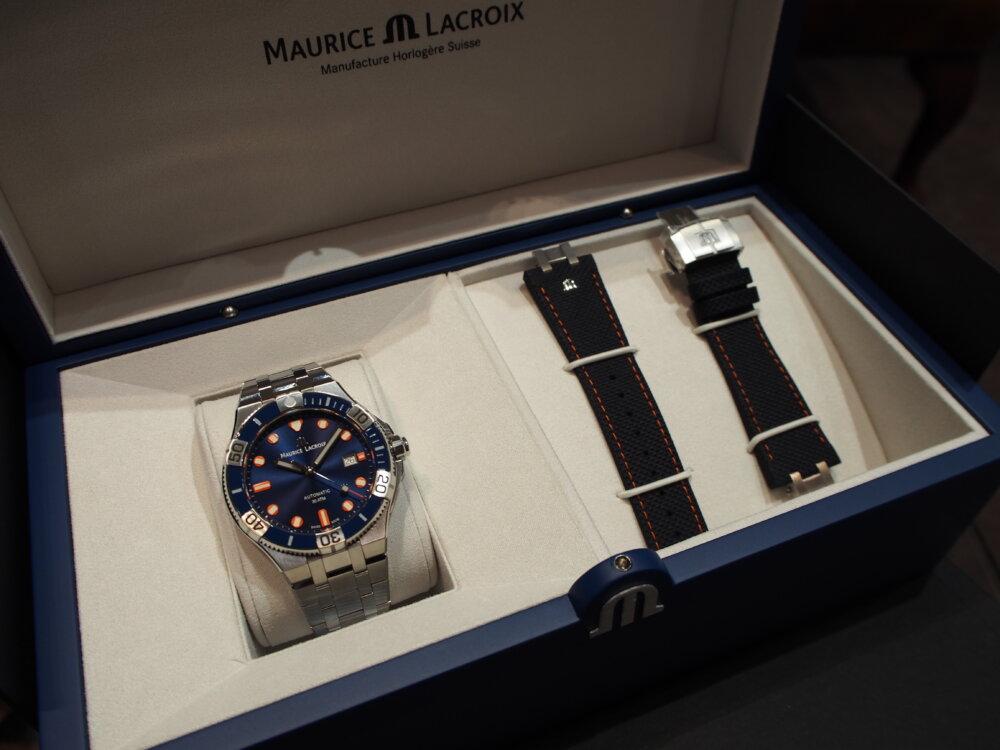 モーリス・ラクロア 500本限定「アイコン ベンチュラー リミテッドエディション」は豪華専用BOXと特別なストラップが付属!-MAURICE LACROIX -PA260397