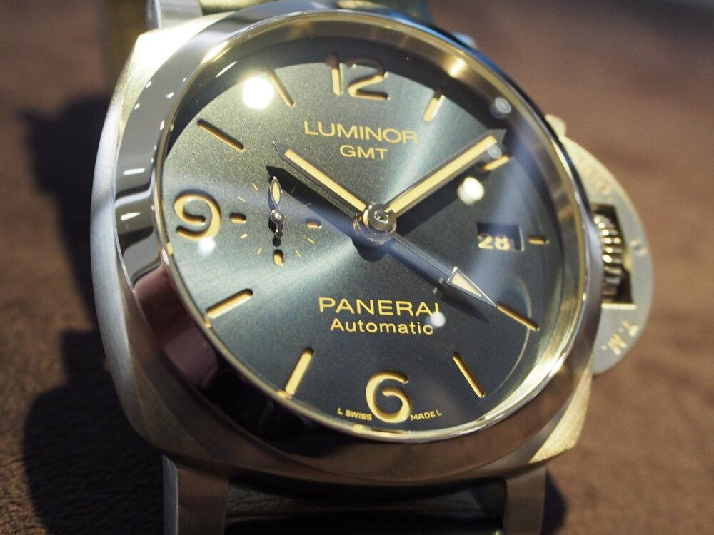 海面の様な色鮮やかなブルー文字盤!「パネライ ルミノール GMT PAM1033」再入荷!-PANERAI -PB010477